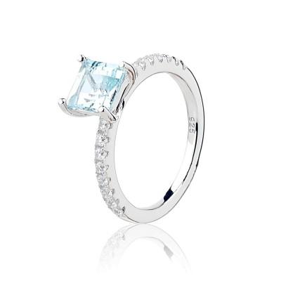 Серебряное кольцо с топазом (S002062)